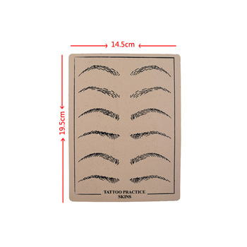 2 PCS High Quality Rubber Professional Permanent Makeup Eyebrow Durable Tattoo Practice Skin For Tattoo Artist Starter &T фото