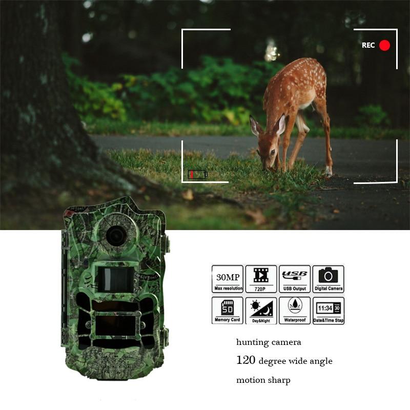 Bolyguard 30MP 1080 p HD Chasse Caméra Grand Angle 120 degrés Trail Caméra Night Vision 940nm faible lueur IR LED lumières