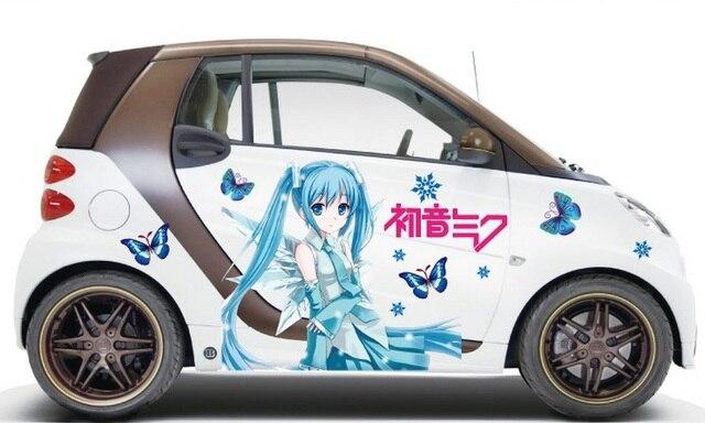 Online Shop D Car Decals Japanese Cartoon Anime Graffiti Stickers - Car anime stickers