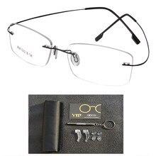 21f8c186fa67 brand designer women Unisex Titanium Rimless Glasses Frames Myopia Optical  Frame mens Titanium Frameless Eyeglasses