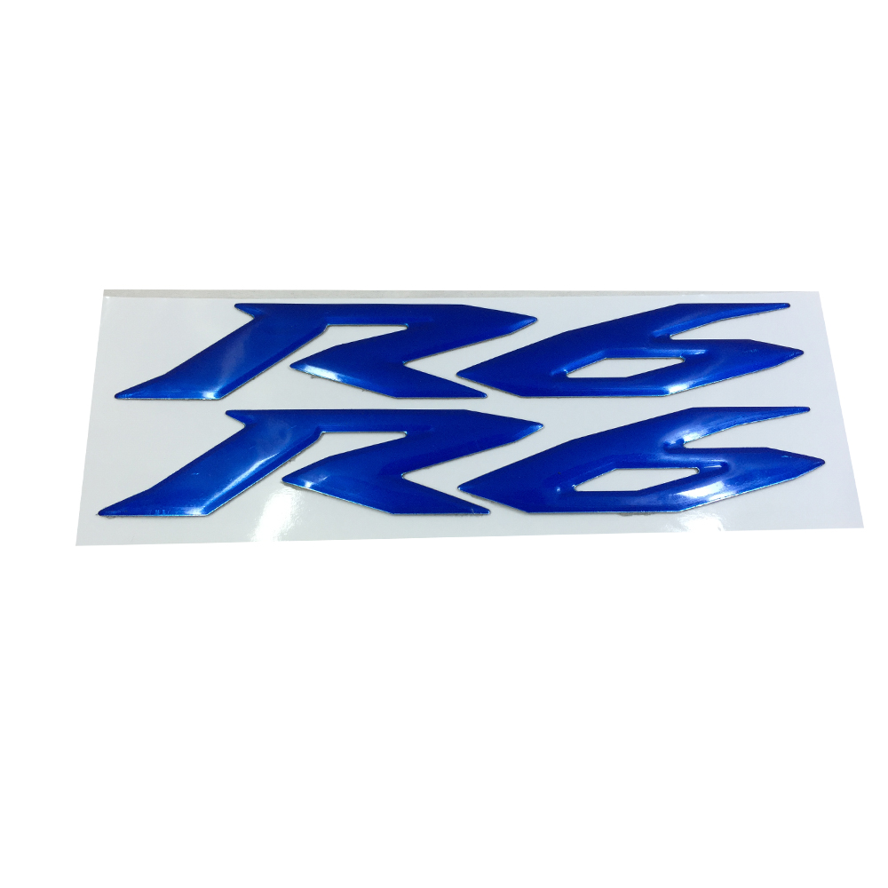 Blue MOTORCYCLE EMBLEM BADGE DECAL 3D TANK <font><b>WHEEL</b></font> LOGO FOR <font><b>YAMAHA</b></font> YZF600 <font><b>R6</b></font> <font><b>STICKER</b></font> image