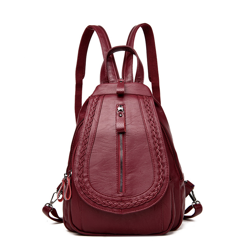 Fashion Women Backpack High Quality Leather School Bags For Teenagers Girls Travel Bag Designer Daily Backpack Rucksack Mochila