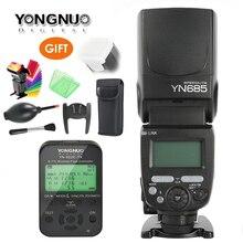 용인 YN685 GN60 무선 플래시 스피드 라이트 HSS TTL 니콘 캐논 카메라 용 1/8000s 라디오 슬레이브 모드 YN622C TC/YN622N/TX 내장
