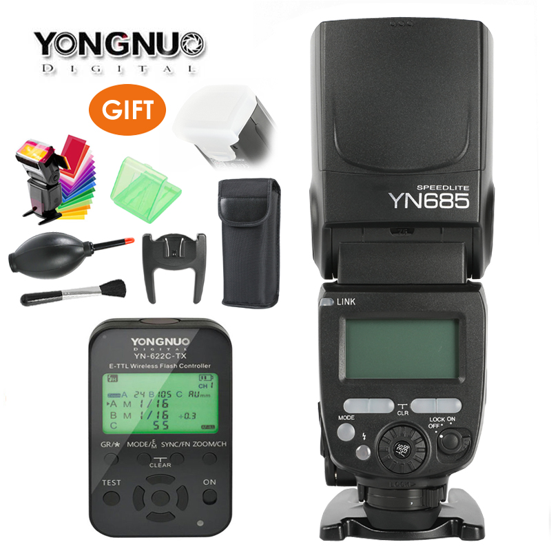 купить Yongnuo YN685 GN60 Wireless Flash Speedlite HSS TTL Built-in 1/8000s Radio Slave Mode YN622C-TC/YN622N/TX for Nikon Canon Camera по цене 7207.74 рублей