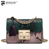 ZOOLER Genuine Leather Bag 2016 New Women Messenger Bags Small Cross Body Chains Shoulder Bags Colors