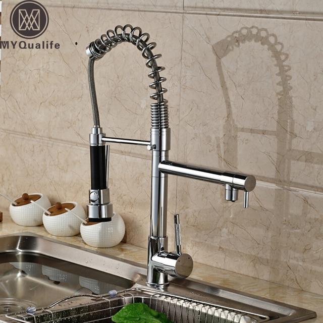 Aliexpress.com : Buy Spring Pull Down Kitchen Mixer Faucet Deck ...