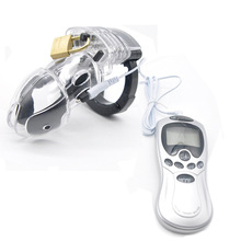 купить 3 Colors Electro Shock Male Chastity Device Cock Rings with Adjustable Cuff Ring Power Box E-stim Male Cage Belt CBT Fetish по цене 573.52 рублей