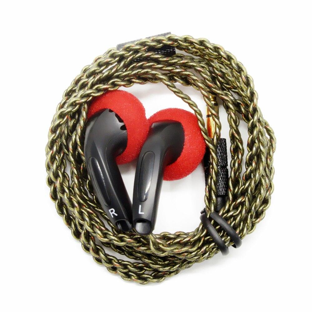 100% nova fengru diy emx500 in-ear fones de ouvido cabeça plana plug diy fone de ouvido alta fidelidade graves fones de ouvido dj graves pesados qualidade som