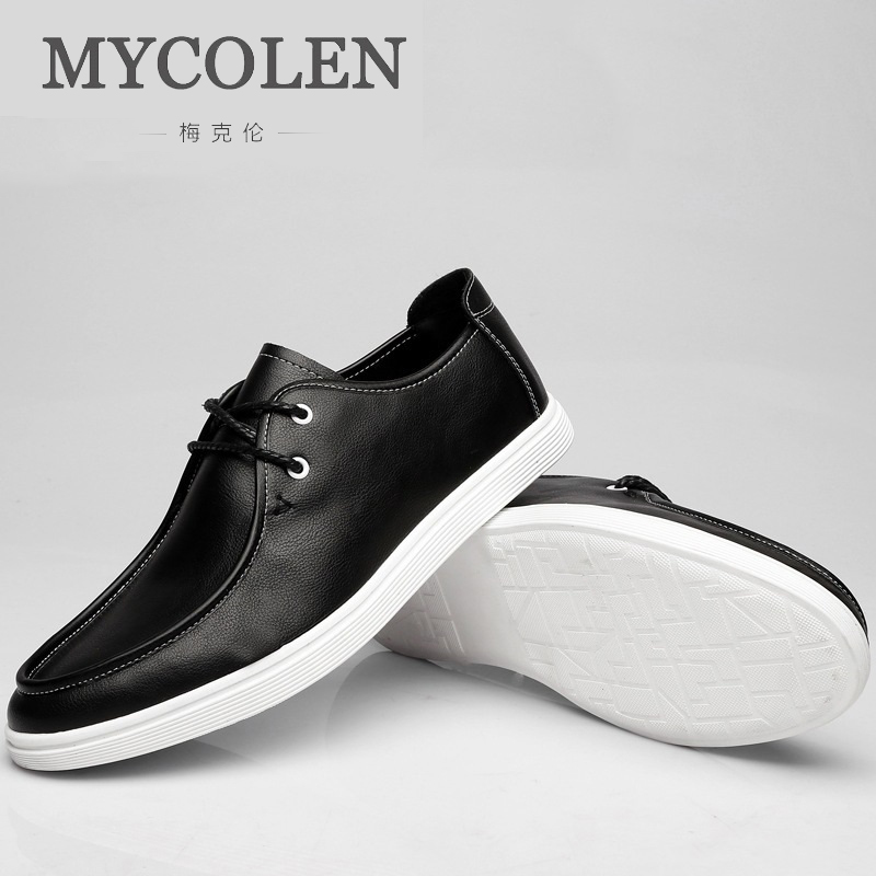 MYCOLEN New High Quality Men Casual Shoes Breathable Fashion Men Shoes Casual Dress Luxury Brand Shoes Chaussures Homme mycolen high quality men white leather shoes fashion high top men s casual shoes breathable man lace up brand shoes