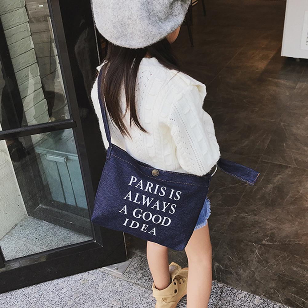 Gepäck & Taschen Qualifiziert Casual Kinder Junge Mädchen Brief Drucken Denim Crossbody Beutel Kinder Schulter Tasche Clear-Cut-Textur Kinder- & Babytaschen