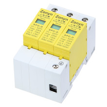 купить high quality  SPD 420V 20KA~10KA House Surge Protector Protective Low-voltage Arrester Device 3P недорого