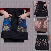 high quality Japan Style Chef aprons hotel Kimono work apron Restaurant bar waiter apron Korean Restaurant work apron 227#