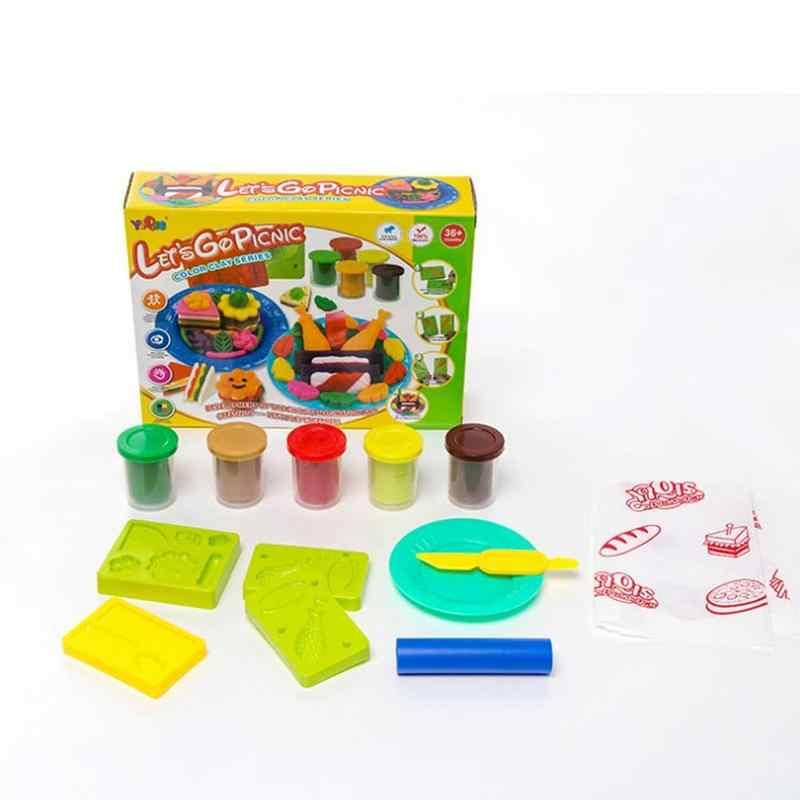 2 стиля ребенка творческий подарок для пикника Цвет грязи обучения приз вкусный Пикник безопасности разноцветный Пластилин Глина для лепки набор