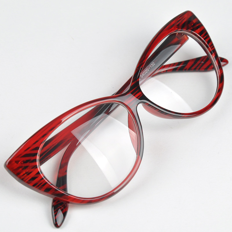 Drop Shipping Retro Sexy Cat Eyes Glasses Frame Fashionable Glasses Frame Beautiful Print Glass Frame