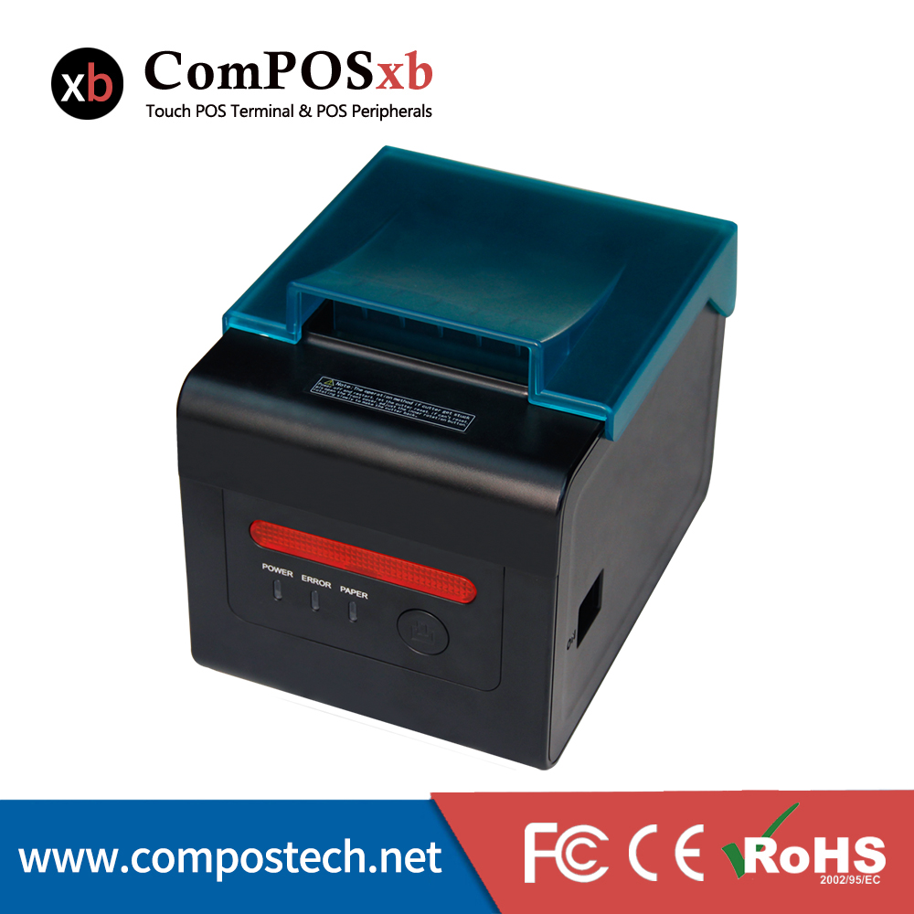 High quality 80mm kitchen thermal printer 300mm/sec print speed with cutter for restaurant 260mm sec high speed 80mm thermal printer with auto cutter multiple ports for option ocpp 801