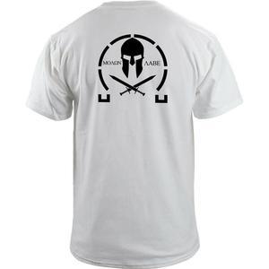 Image 3 - Männer Klassische Molon Labe Grafik T Shirt Doppel Seite Neue Sommer Mode männer Einfache Kurzen Ärmeln Baumwolle Anpassen T shirts