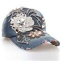 Top qualidade garra luxo cadeia padrão de lótus Manual de diamante 5 cores boné de beisebol moda meninas broca viseiras gota SY329