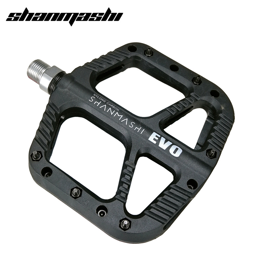 Mountain Road Bike Bicycle Bearing Pedals Wide Nylon Pedals Black SM