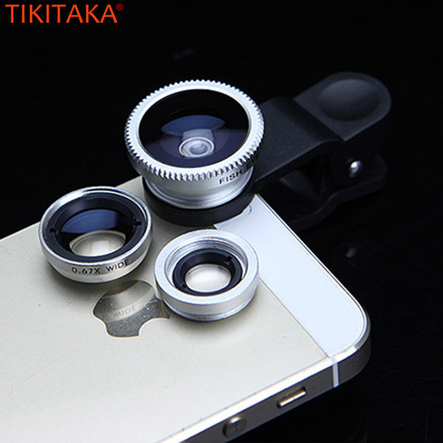 Fish Eye Phone Lenses Super Wide Angle Macro Lens 3 in 1 Mobile Camera Lens for Samsung A5 A7 2017 Huawei Mate 10 Lite Meizu U10