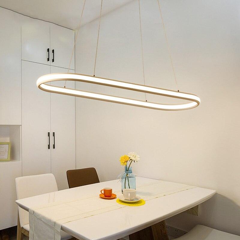 Двойной Glow современный привело подвесной светильник для Кухня обеденный Гостиная Подвеска светильник висит кулон лампы, светильники