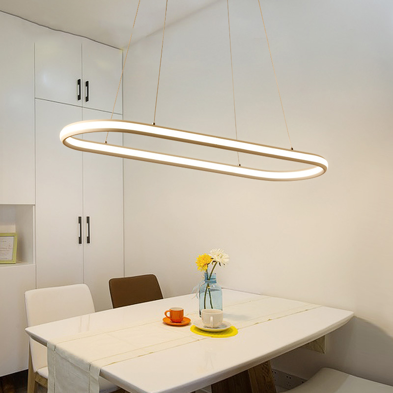 Illuminating Kitchen Lighting: Double Illumination Modern Led Pendant Light For Kitchen