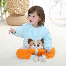 Дети sleeper Съемный Ребенка Спальный Мешок, вышивка Мультфильм Медведь 100% Хлопок Спальный Мешок 0-2 Лет Детские Постельные Принадлежности