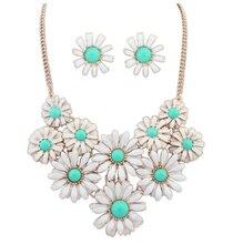 De múltiples Capas Collar de Oro Conjuntos de Joyas De Plata De Joyería Fina Pendientes Flor Mujer Caliente Chian Maxi Collar Vinatge ZT-15