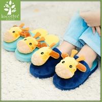 2016 Winter Kids Slippers Boy Girl Household Cotton Children Shoes Good Quality Keep Warm Cartoon Giraffe