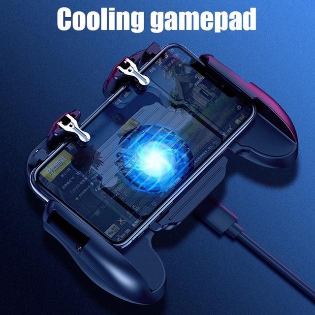 Мобильный игрового контроллера геймпад кулер вентилятор охлаждения огонь PUBG мобильный игровой контроллер геймпад джойстик металлический L1 R1 триггер