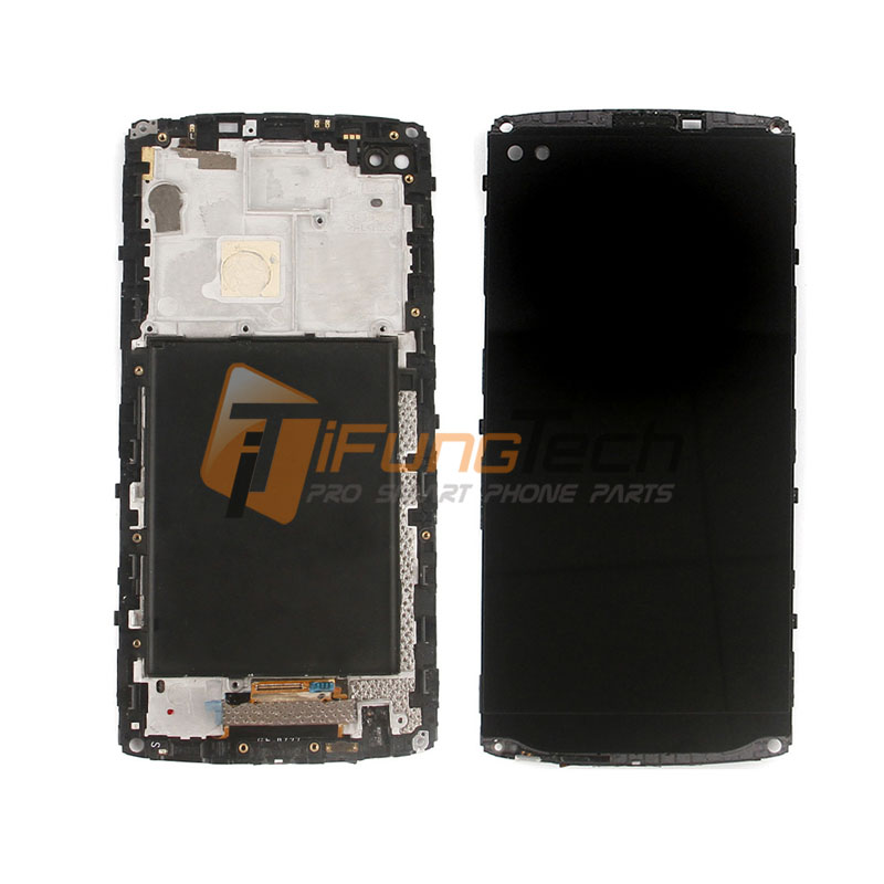 Original 5.7 For LG V10 LCD Screen Touch Glass Digitizer with Bezel Frame Assembly Replacement - For V10 H900 H901 10PCS original lcd for lg g3 d850 d855 lcd display screen digitizer touch glass pantalla with frame bezel assembly replacement
