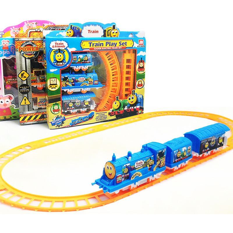 2018 Small Train Rail Car Children's Toys Electric Set Train Toy