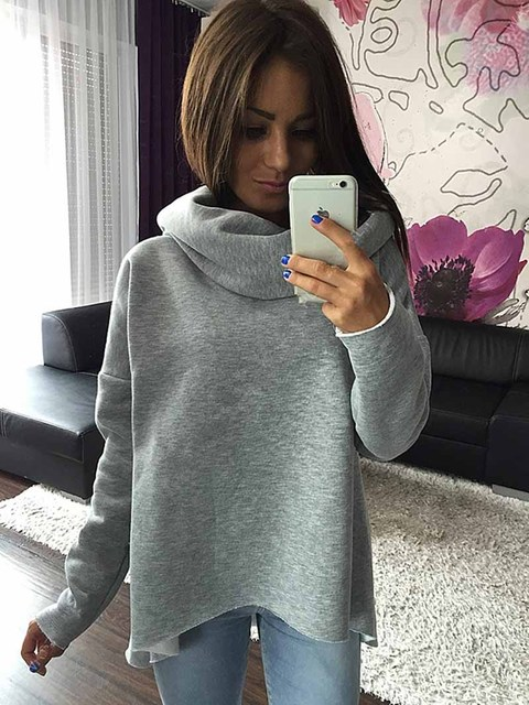 Women Christmas Clothes Winter Autumn Hoodies Scarf Collar Long Sleeve Fashion Casual Sweatshirts Rough Pullovers S-XL