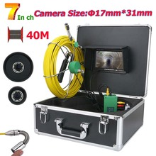 MOUNTAINONE 7inch 17mm Pipe Sewer Inspection Video Camera Drain Pipe Sewer Inspection Camera System 1000 TVL 20M 30M 40M 50M