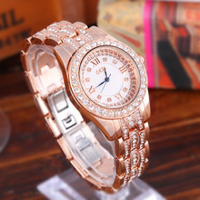 Silver Luxury Women Dress Watch Rhinestone Ceramic Crystal Quartz Watches Magic Wrist Female