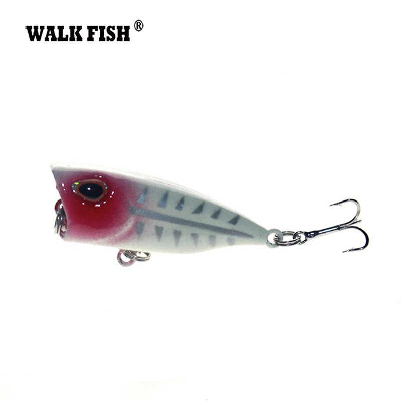 ウォーク魚 1 個 3 センチメートル 4 グラムミニポッパー釣りルアーモデルハード餌 7 色 12 # フックポッパーフローティングトップ水餌