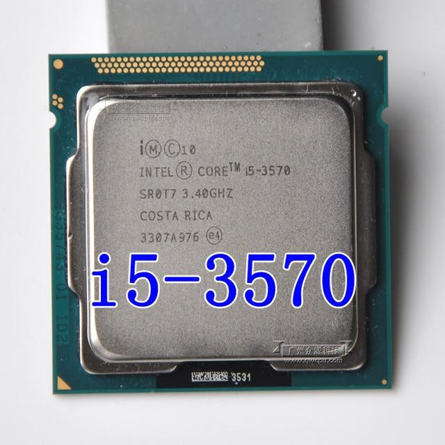 intel i5 3570 Processor Quad-Core 3.4Ghz L3=6M 77W Socket LGA 1155 Desktop CPU working 100% Free Shipping