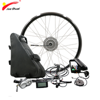 Powerful BAFANG 48V 350W 500W Electric Wheel Motor Electric Bike Conversion Kit with Battery 48V 20ah 26ah 8FUN BPM Motor Wheel