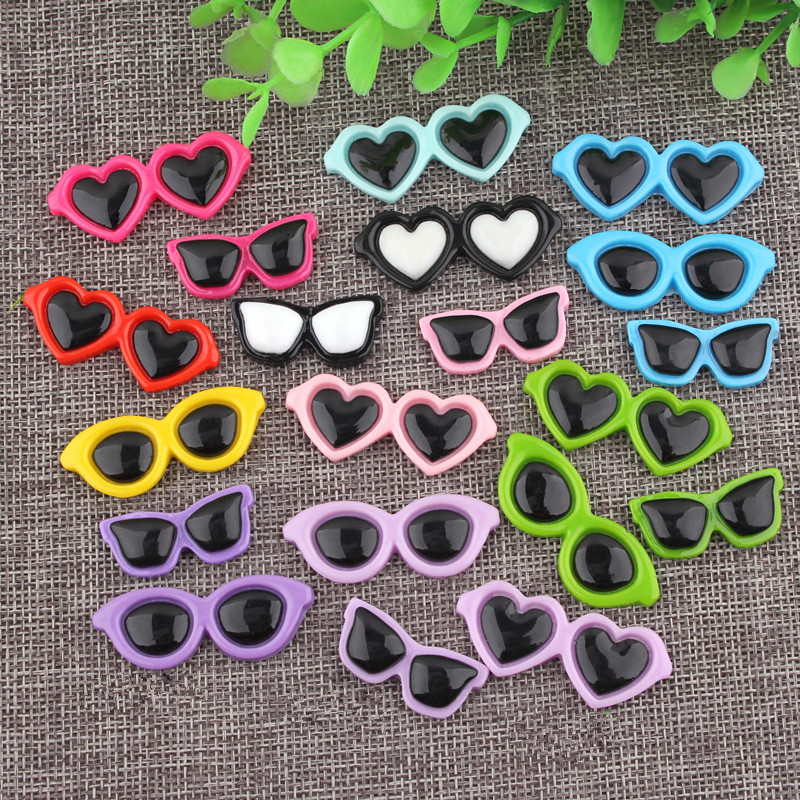 10pcs Diy Glasses Frame Resin Accessories Mobile Phone Shell Diy Beauty Hair Accessories Doll Accessories