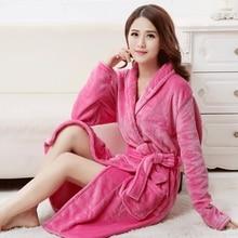 Bath Robe Female Lovers Coral Fleece 5 Colors Night Gown Spa Bathrobe Unisex Bath Robe Women Long Sleeve Kimono Womens Gowns