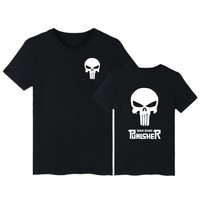2017 Men T Shirt Print Punisher Super Man O Neck Cotton Short Sleeve Skull Hip Pop