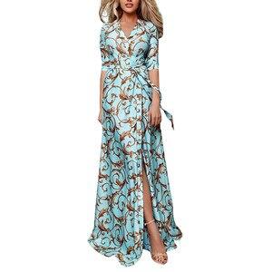 Женское облегающее платье JAYCOSIN, винтажное платье с v-образным вырезом, длинным рукавом и поясом, лето 2019
