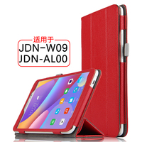 High Quality Genuiue Real Leather Folio Stand Protective Cover Sleeve Shell For Huawei Honor Tablet 2