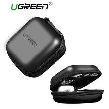 Ugreen Earphone Accessories Headphone Case Hard Box Bag for Bose Sennheiser Earphone Ear Pads USB Cable Charger Earphone Case