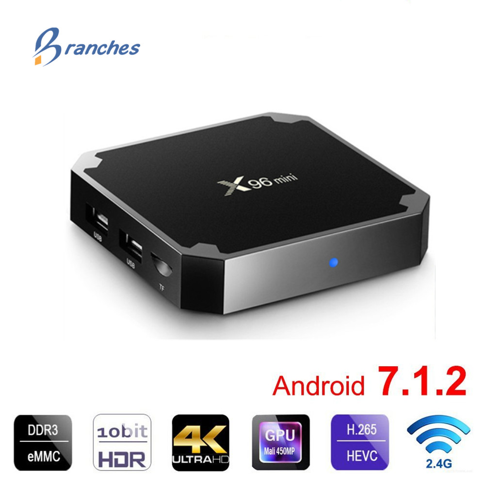 X96 mini Smart TV BOX Android 7.1.2 OS TV Box 1 gb/8 gb 2 gb/16 gb amlogic S905W Quad Core H.265 4 k 2.4 ghz WiFi Set Top Box X96mini