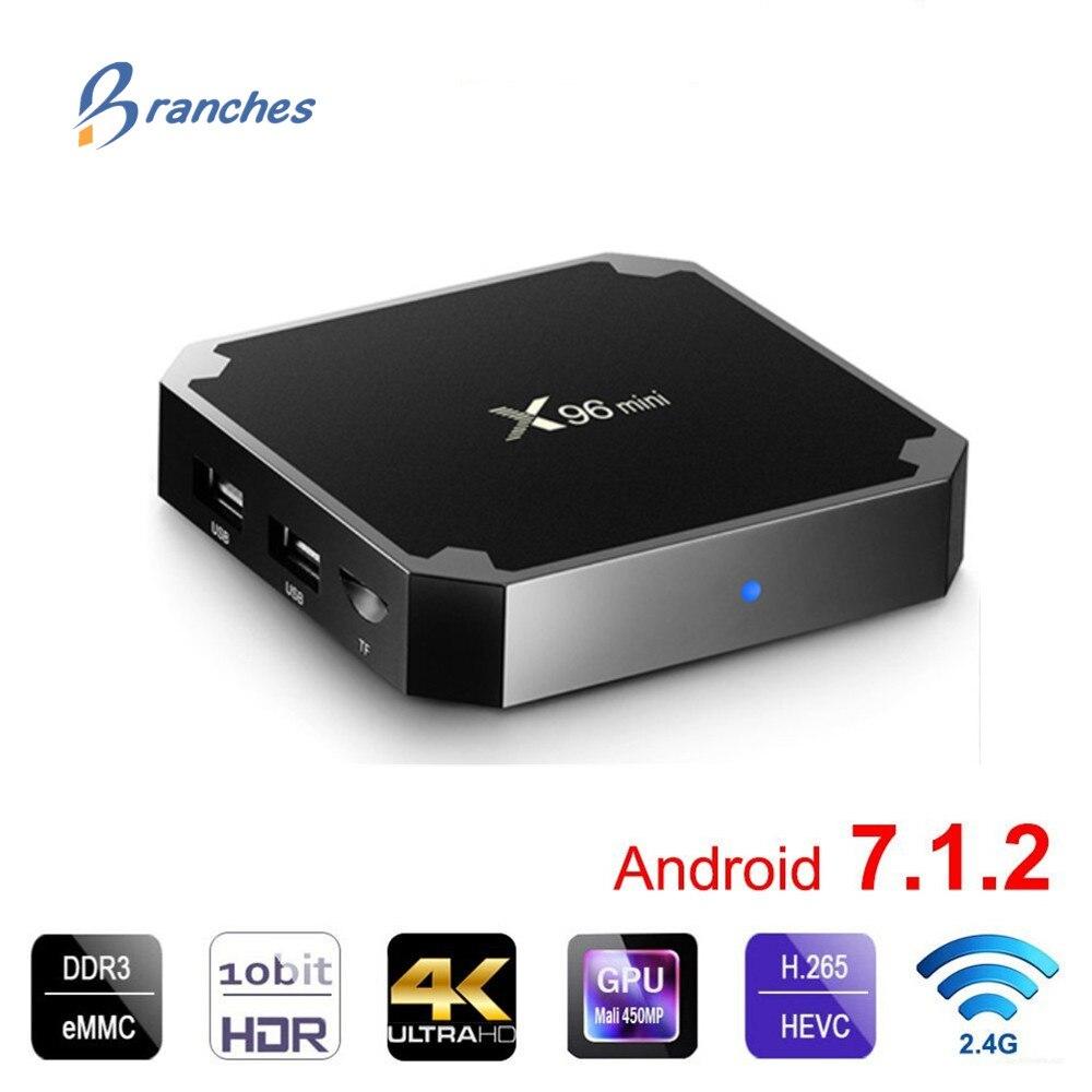 X96 mini Smart TV BOX Android 7.1.2 OS TV Box 1GB/8GB 2GB/16GB Amlogic S905W Quad Core H.265 4K 2.4GHz WiFi Set Top Box X96mini