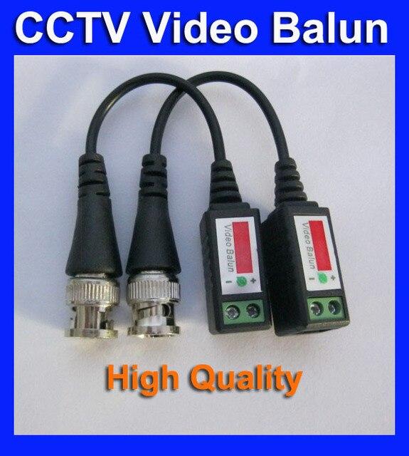 Video Balun 10 Pairs Twisted BNC Video Balun passive Transceivers UTP Balun BNC Cat5 CCTV UTP Video Balun up to 3000ft Range