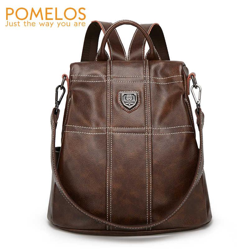 POMELOS женский рюкзак 2019 новые дизайнерские рюкзаки с защитой от кражи женские рюкзаки высокого качества из искусственной кожи женский рюкзак для путешествий женский рюкзак