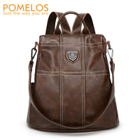 POMELOS Women Backpack 2019 New Designer Anti Theft Backpacks Women High Quality PU Leather Ladies Backpack Travel Woman Bagpack