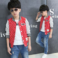 2017 Spring and autumn kid boy fashion dot jackets children's simple and atmospheric clothing coat