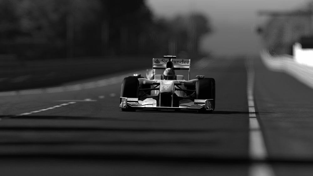 Formula 1 Black And White Prints